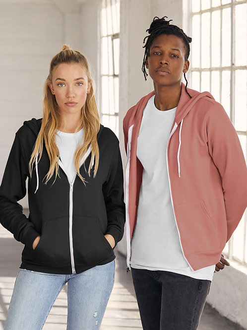 Bella Canvas Unisex Sponge Fleece Full-Zip Hoodie