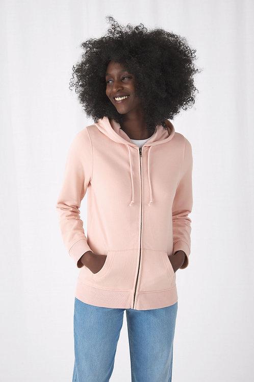 B&C Women's Organic Zipped Hood