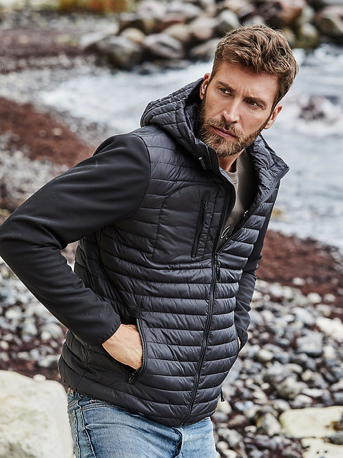 Tee Jays Men's Hooded Crossover Jacket