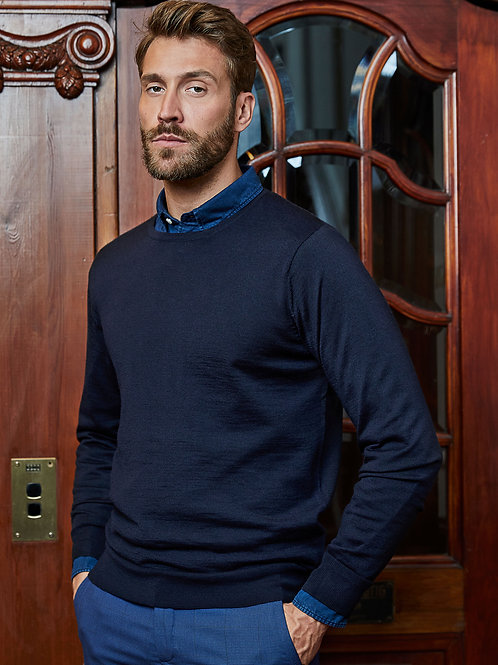 Tee Jays Men's Crew Neck Knitted Sweater