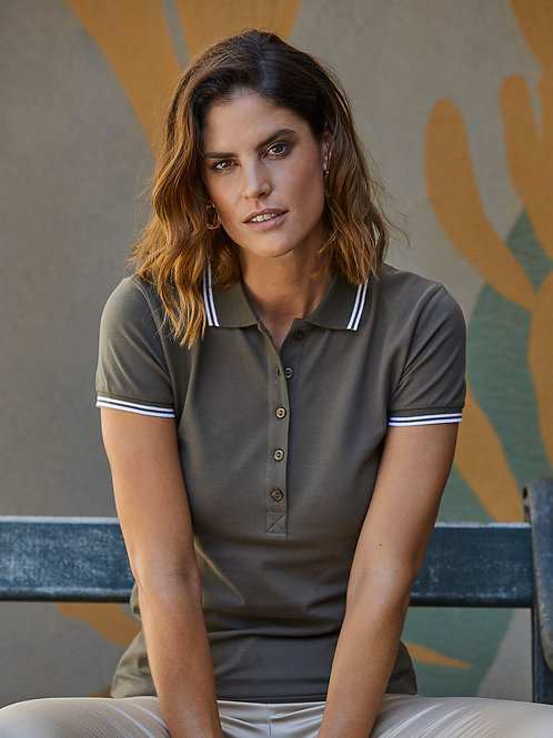 Tee Jays Ladies' Luxury Stripe Stretch Polo