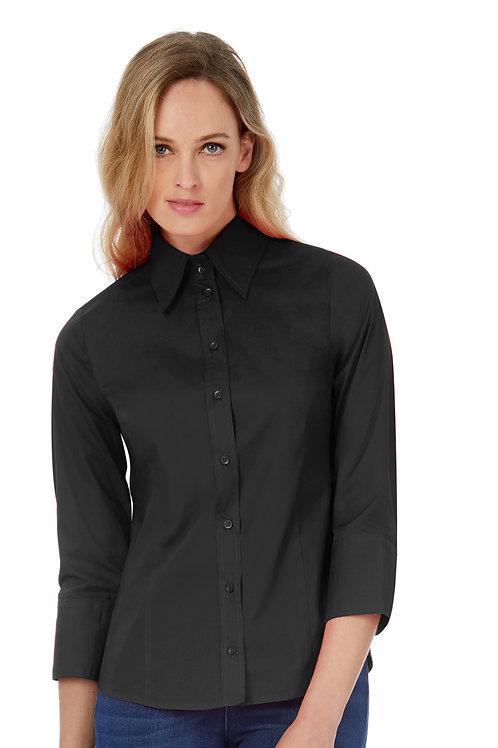 B&C Women's Milano Poplin 3/4 Sleeve Shirt