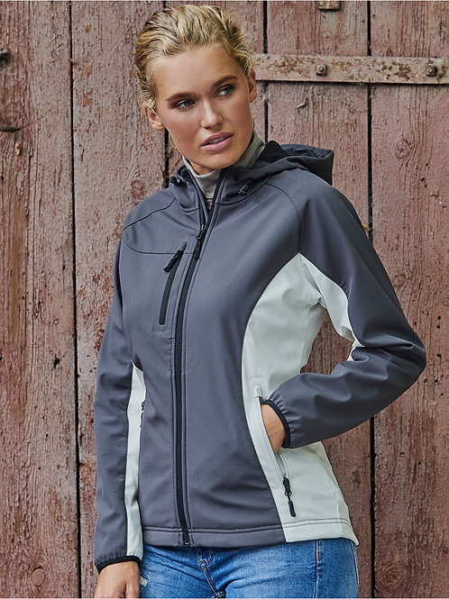 Tee Jays Ladies' Hooded Lightweight Performance Softshell