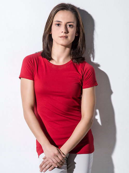 Nakedshirt Women's 'Ruth' Organic Fitted T-Shirt