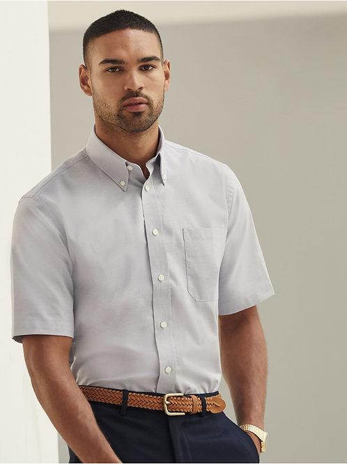 Fruit Of The Loom Men's Short Sleeve Oxford Shirt