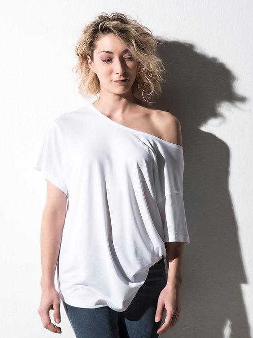 Nakedshirt Women's 'Kate' Viscose-Cotton Fashion Boxy T-Shirt