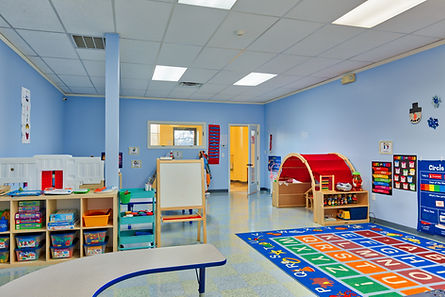 Odyssey Early Learning Academy daycare and preschool, large open preschool classroom. Clean and inviting bright space for educational childcare.