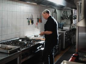 Küche in Fröhlichs Wirtshaus