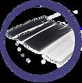 Foto de algunos perfiles flexibles de PVC.
