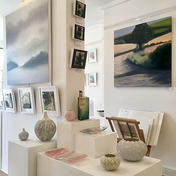 An exhibition of ceramics and paintings at Chalk Gallery Lewes