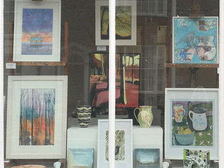 Spring window at Chalk Gallery