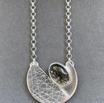 Divided Circle Tourmalinated Quartz Necklace