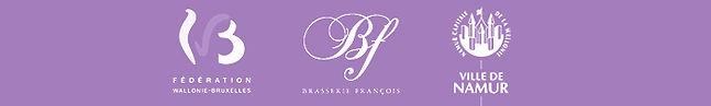 Logos Fédération Wallonie Bruxelles - Ville de Namur - Belgique