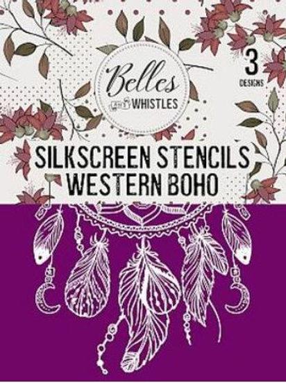 Western Boho Silk Screen Stencil