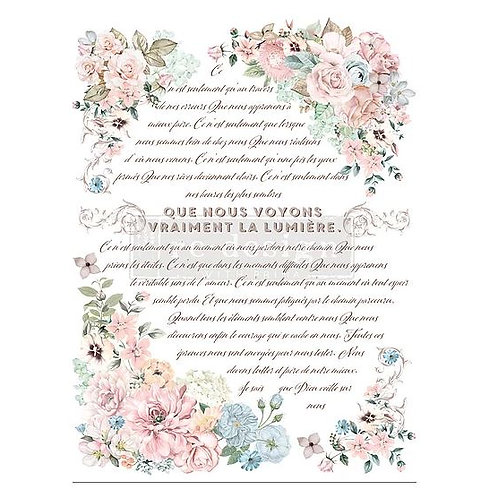 Pure Light Floral - Redesign with Prima Transfer