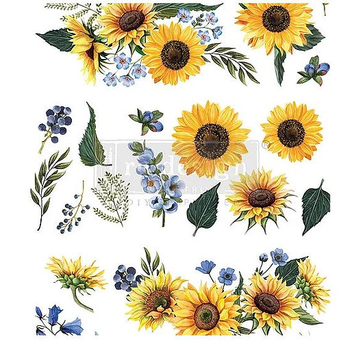 Sunflower Fields - Redesign with Prima Transfer
