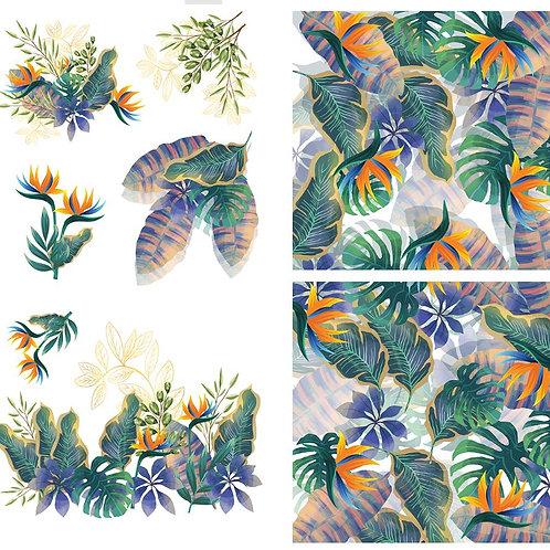 "Tropical Leaves 38.8"" x 24.8""   PRE-ORDER"