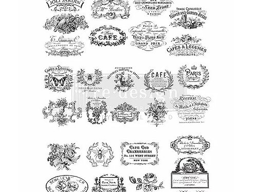 Classic Vintage Labels - Redesign with Prima Transfer