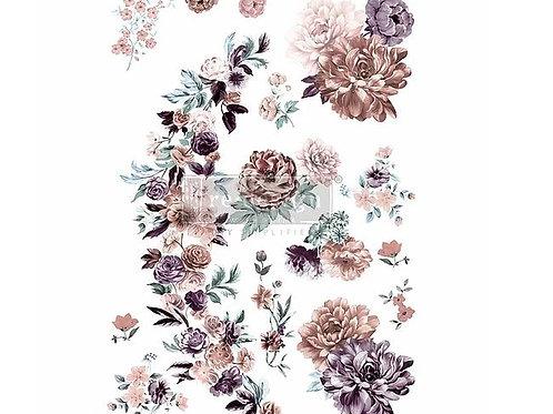Burgundy Rose Garden Redesign with Prima Transfer
