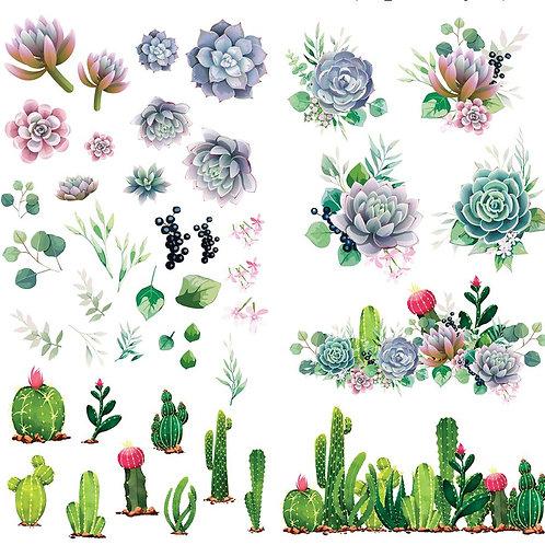 "Cacti & Succulents 38.8"" x 24.8"""