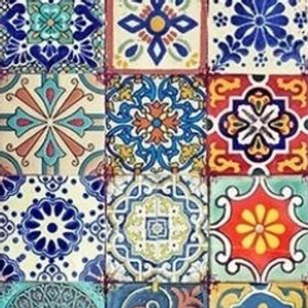 Colorful Tiles Decoupage Paper by Belles And Whistles