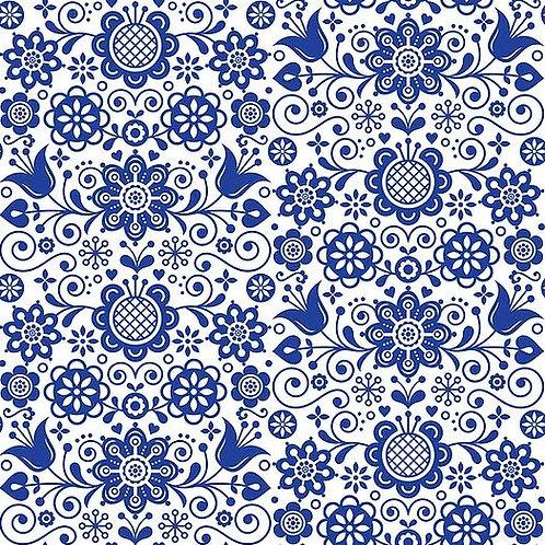 Blue Glass Ornate Decoupage Paper