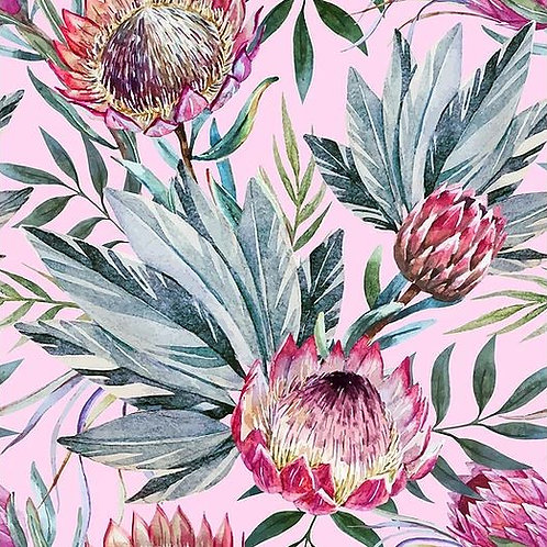 Tropical On Pink Decoupage Paper by Belles And Whistles