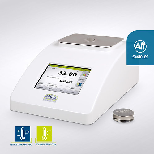 Digital refractometers with peltier temperature control / Kruess
