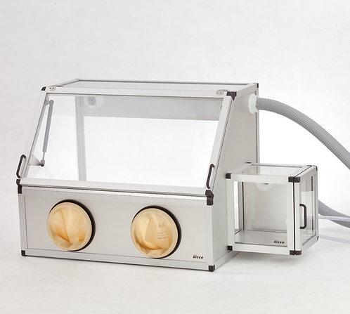 SICCO Handschuhbox Vitrum mit Schleuse, Borosilikat 3.3 /V1986-08 / SICCO