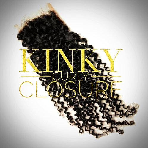 Brazilian Mink Kinky Curly Closure