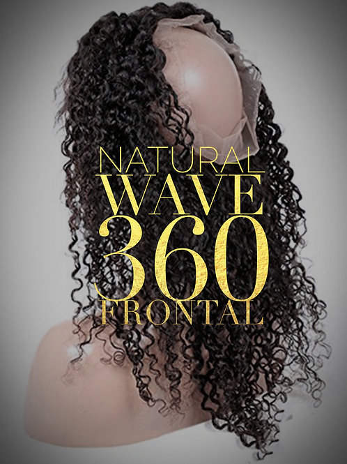 Brazilian Mink Natural Wave 360 Frontal