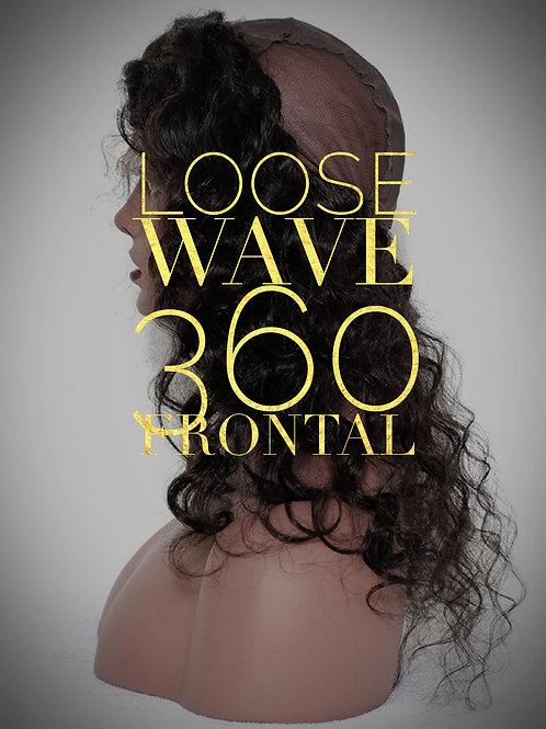 Brazilian Mink Loose Wave 360 Frontal