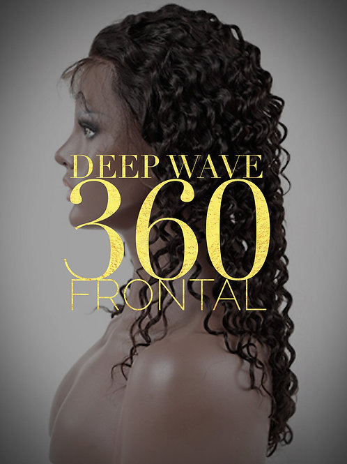 Brazilian Mink Deep Wave 360 Frontal