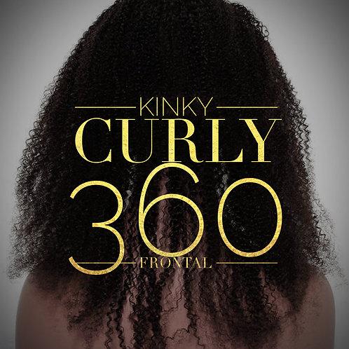Brazilian Mink Kinky Curly 360 Frontal