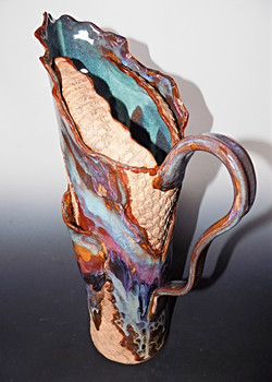 ruffled edge tall pitcher