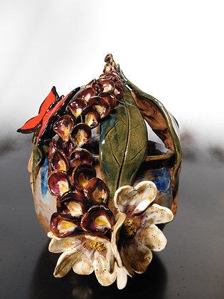 foxglove, dogwood and butterfly pot