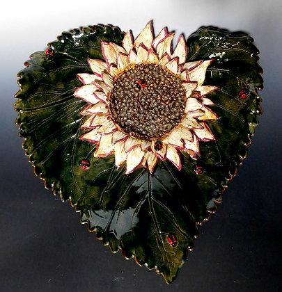 sunflower on leaf