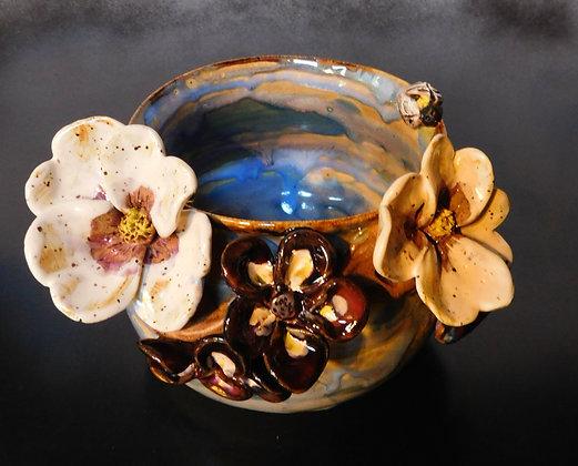 dogwood and bee bowl