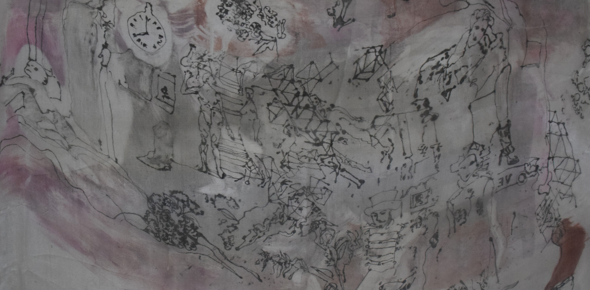 Monoprint on silk 2020