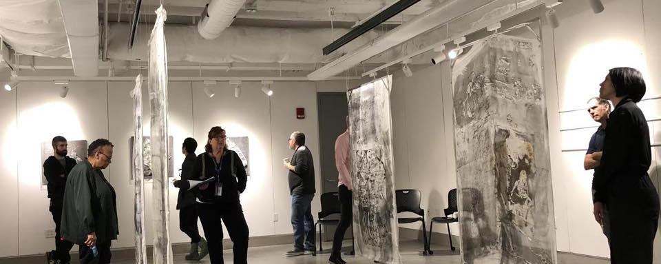 "monoprint panels on aluminum 64"" x 36"" 2019"