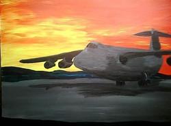 Landing in Sunset