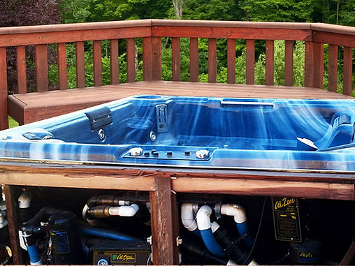 yard help hot tub removal