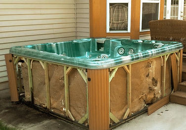 yard help hot tub removal