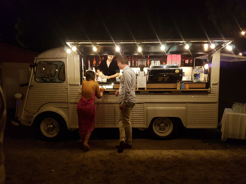 big shot citroen h van mobile bar weddin