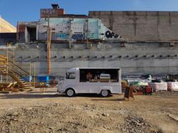big shot citroen h van construction site
