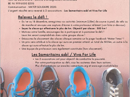 Mater Solidaire et Opération Shoe-Box 2020