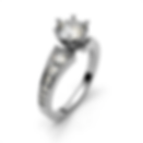 Tapered Diamond Shank Engagement Ring