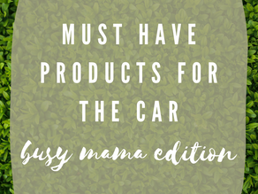 Organized Cars Start with THESE Products!