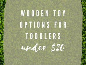 Wooden Toys for Toddlers under $20 | Amazon Finds