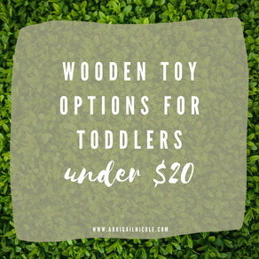 Wooden Toys for Toddlers under $20   Amazon Finds